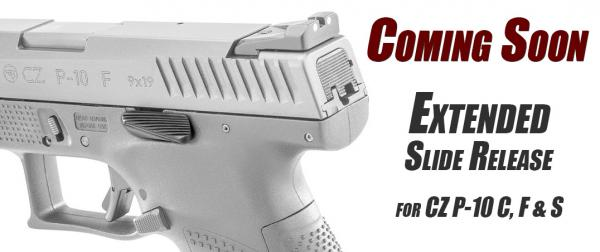 Apex Announces Extended Slide Release for CZ P-10 Pistols