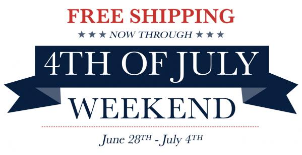 Free Shipping This Independence Day Weekend