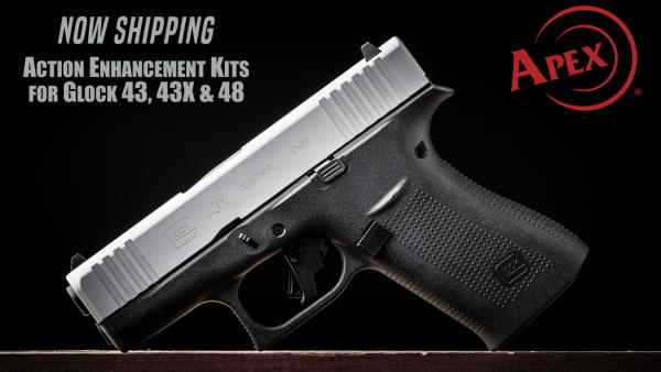 Apex Shipping New Action Enhancement Kit for Glock 43, 43X & 48