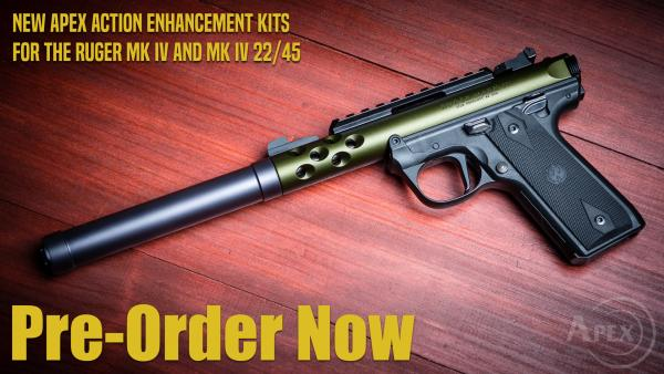New Apex Kits for Ruger Mk IV Available for Pre-Order