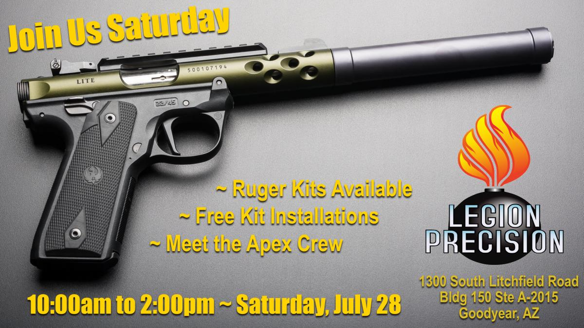 Apex Previewing New Ruger Trigger Kits at Legion Precision Event