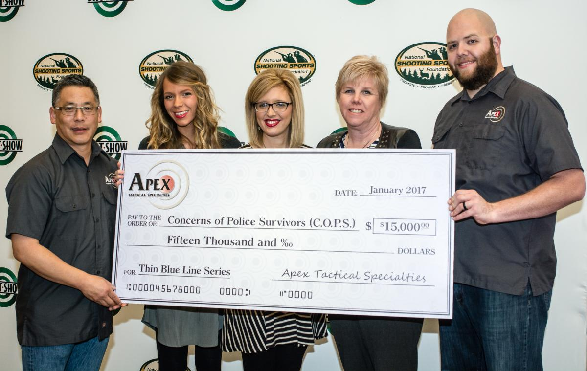 Apex Raises $15,000 For C.O.P.S. With Thin Blue Line Series Triggers