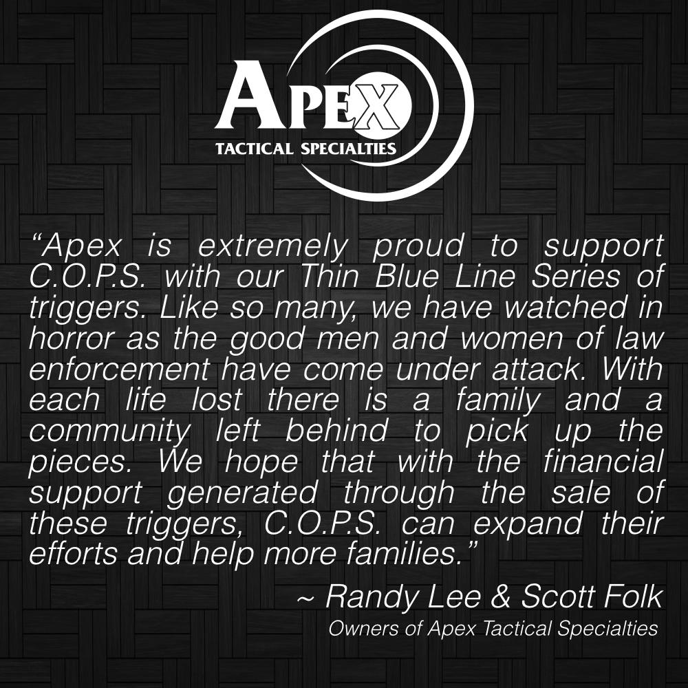Apex Announces Thin Blue Line Series In Support of C.O.P.S.