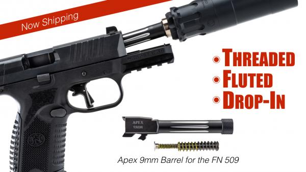 Apex Now Shipping New Threaded Barrel for FN 509 Pistols