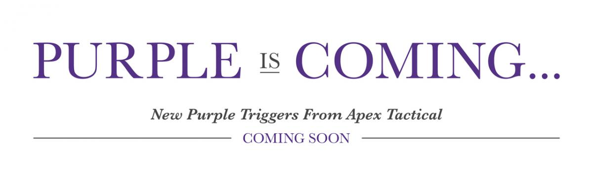 Apex Announces Purple Anodized Triggers For Popular Model Pistols
