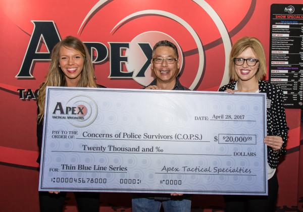 Apex Donates $20,000 To C.O.P.S., Raising $50,000 Total