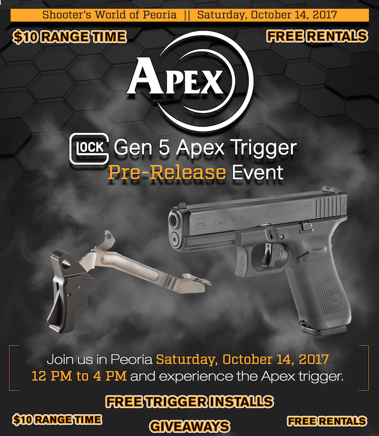 Apex Previewing New Gen 5 Glock Trigger at Shooter's World of Peoria