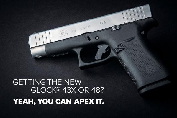 Apex Announces Glock 43X and Glock 48 Compatible Triggers