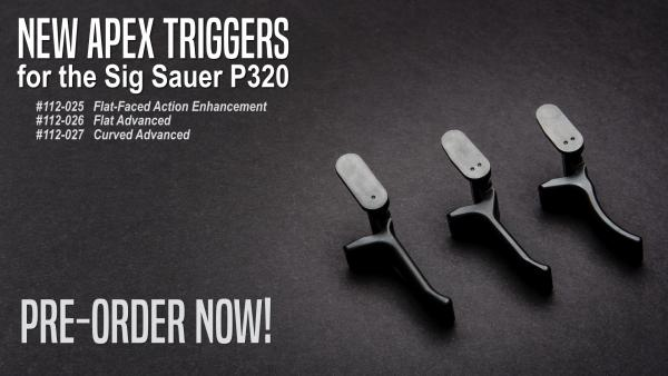 Apex Re-Releasing Triggers for Sig Sauer P320 Pistols