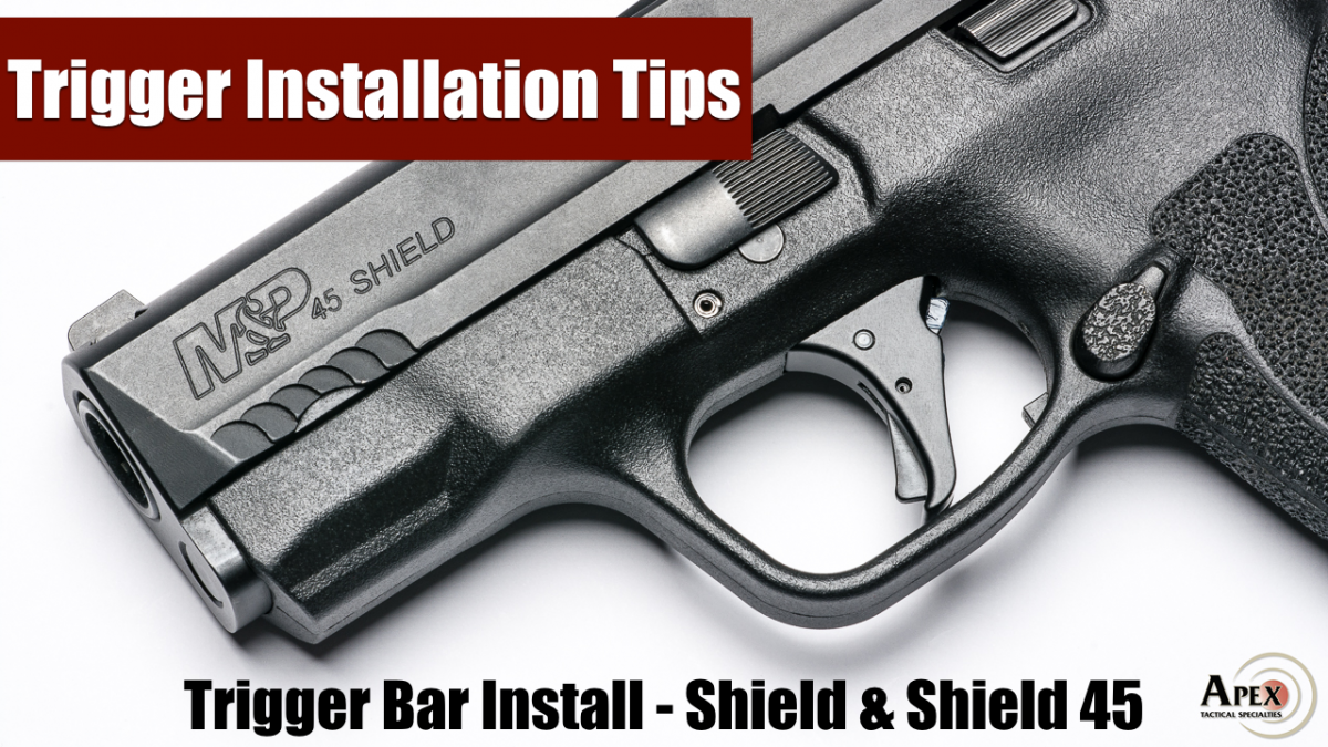 Installing The Apex Trigger On A Shield Trigger Bar