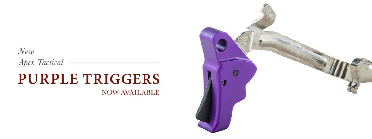 Available Now, Purple Triggers and Conversion Barrels from Apex