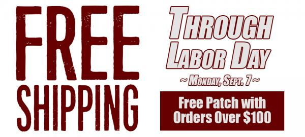 Apex Offers Free Shipping Now Thru Labor Day