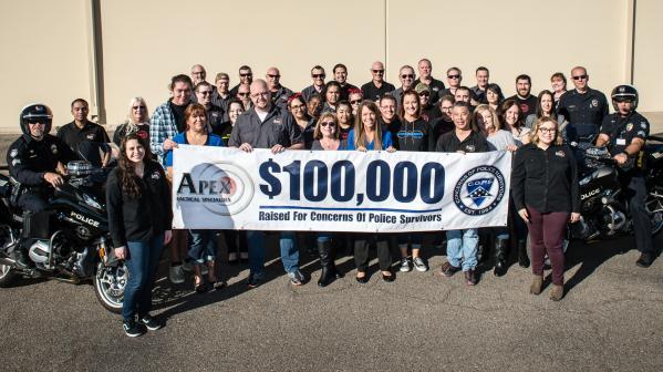 Apex Celebrates $100,000 Raised For C.O.P.S.