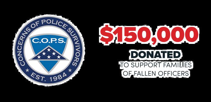 Apex Donates $150,000 To C.O.P.S.