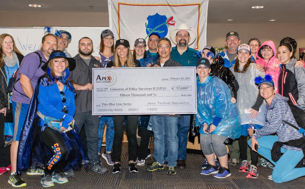 Apex's Thin Blue Line Series Triggers Raise $30,000 For C.O.P.S.