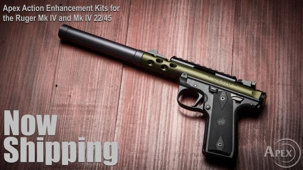 Apex Now Shipping New Ruger Mk IV Kits