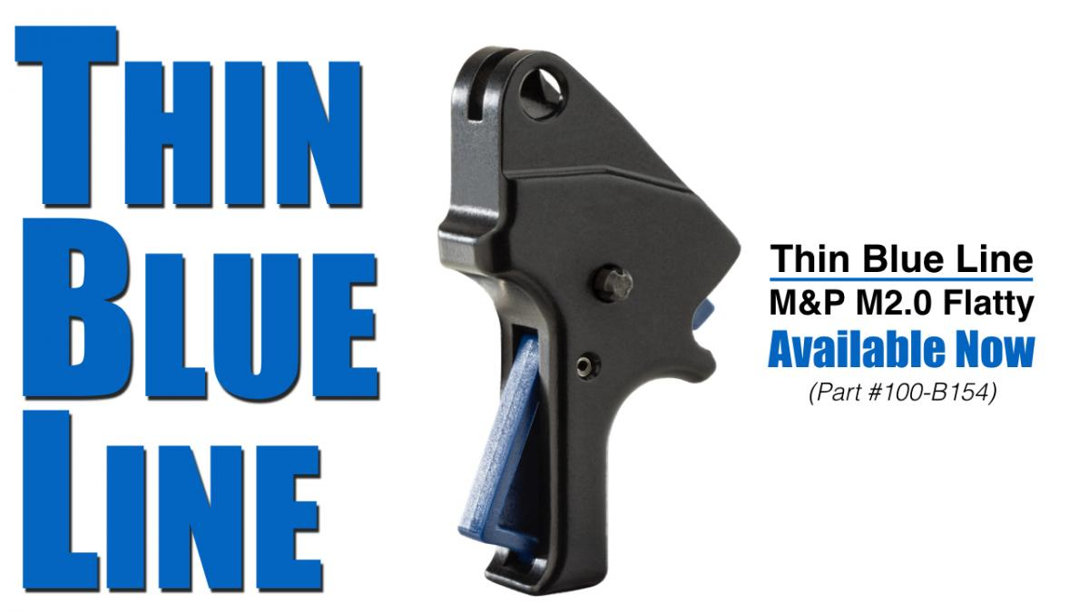 Apex Expands Thin Blue Line Series With Flatty for M&P M2.0 Pistols