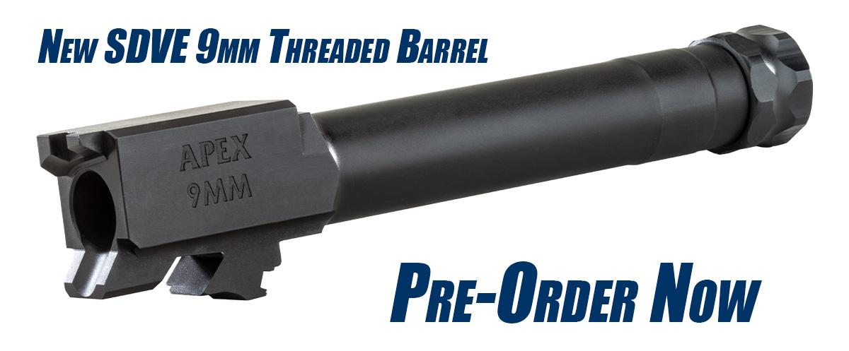 Apex Announces Threaded Barrel for SD9 and SD9VE Pistols