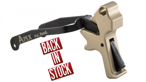 Back In Stock: Apex's Action Enhancement Kits in FDE for FN 509