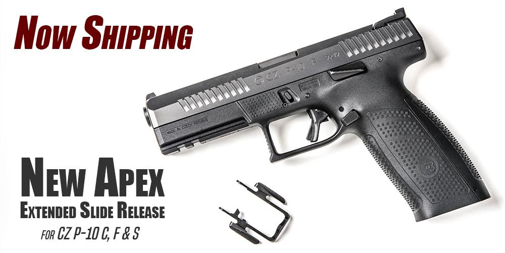 Apex Shipping New Extended Slide Release for CZ P-10