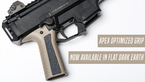 Apex Releases FDE Optimized Grip for CZ Scorpion