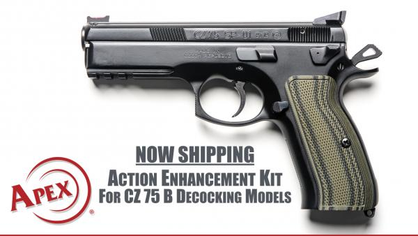 Apex Announces New Upgrade for CZ 75 B Decocking Models