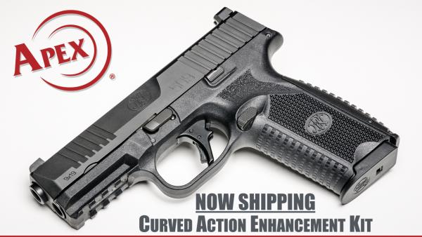 Apex Shipping New Curved Trigger Kit for FN 509 Pistols