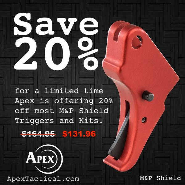 Apex's 'Love At First Pull' Shield Trigger Sales Event - CONCLUDED