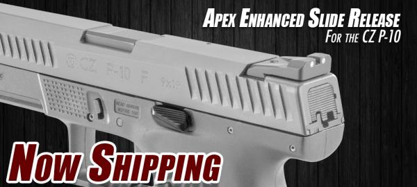 Now Shipping – Apex's Enhanced Slide Release for CZ P-10