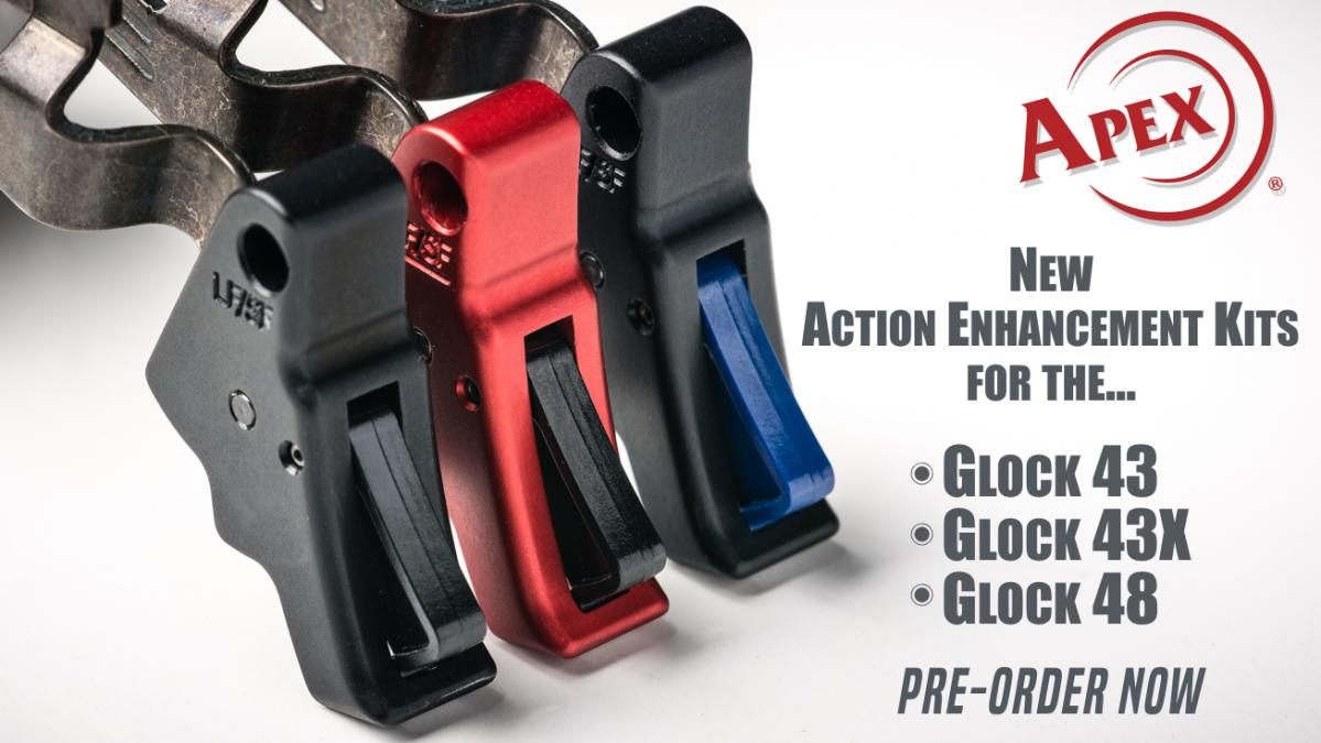 Apex Announces New Action Enhancement Kit for Glock 43, 43X & 48