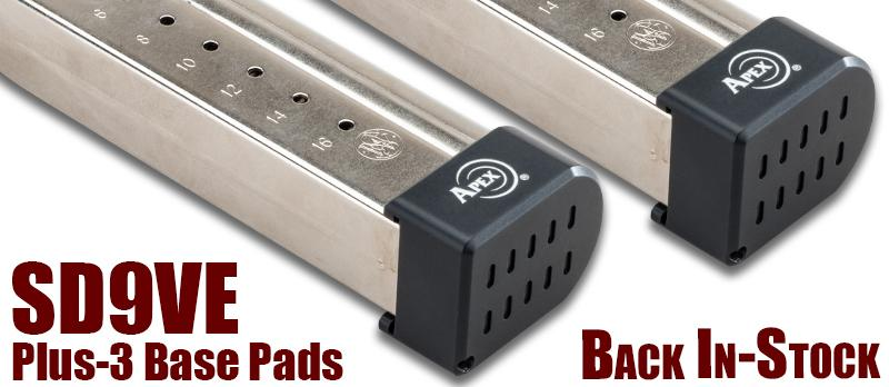 Apex's Plus 3 Base Pads for SD9VE Back In Stock