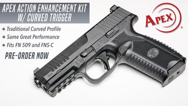 Apex Announces Curved Trigger Action Enhancement Kit for FN 509 Pistols
